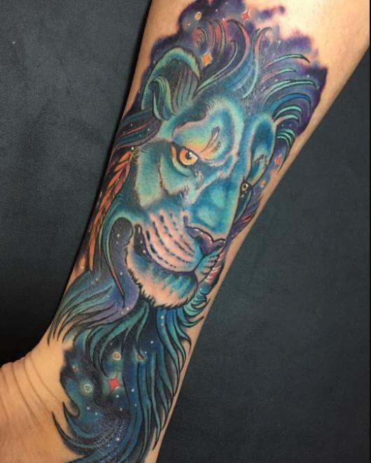 Lion Tattoo Flash