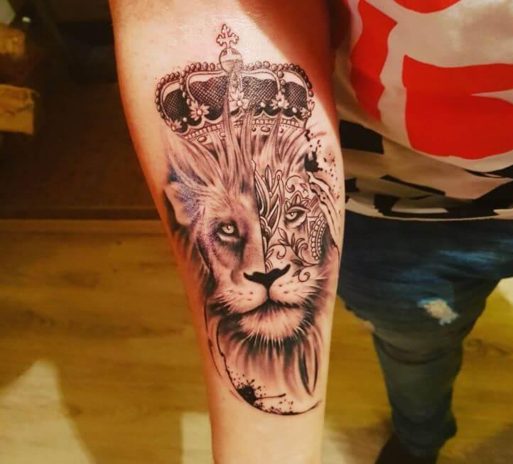 Lion Tattoo Forearm