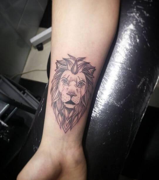 Lion Tattoos On Arm
