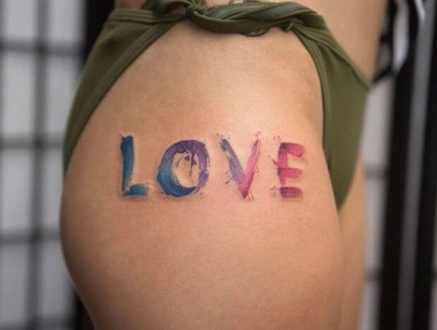 Love Tattoos Watercolor