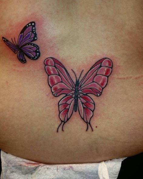 Lowerback Butterfly Tattoos