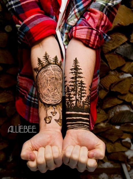 Male Henna Tattoo