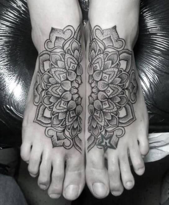 Mandala Ankle Tattoo (1)