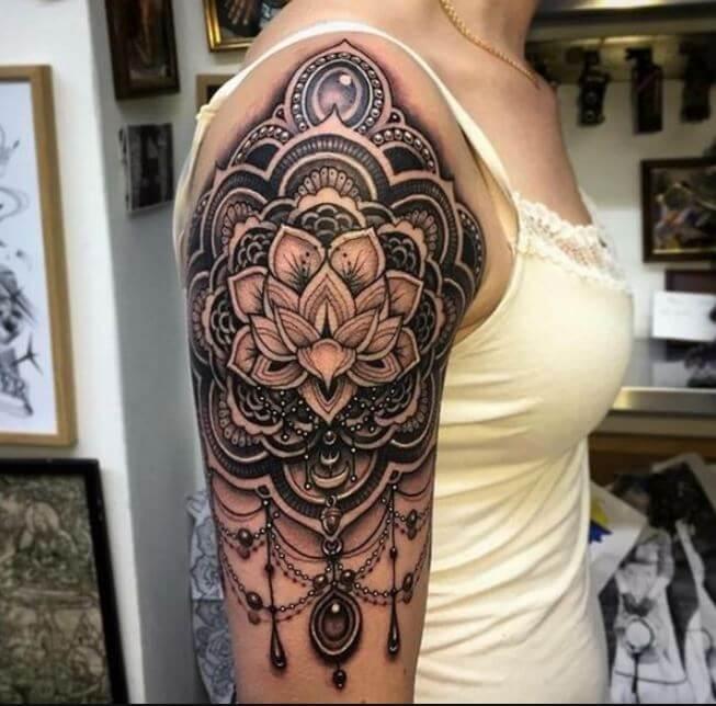 Mandala Half Sleeve Tattoo