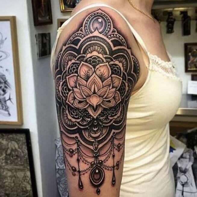Mandala Half Sleeve Tattoos