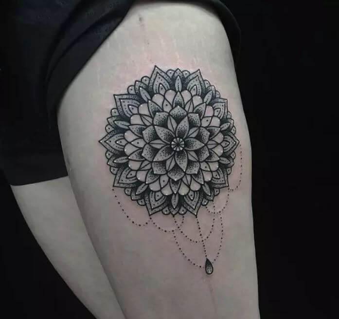Mandala Leg Tattoo
