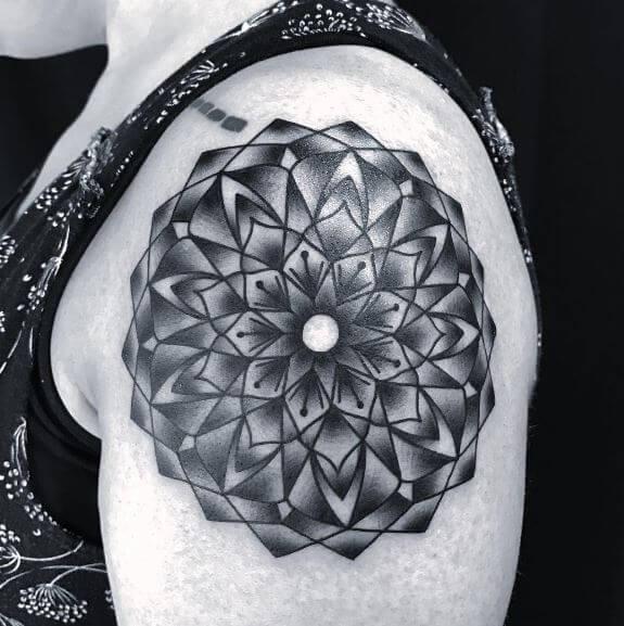 Mandala Tattoo On Shoulder