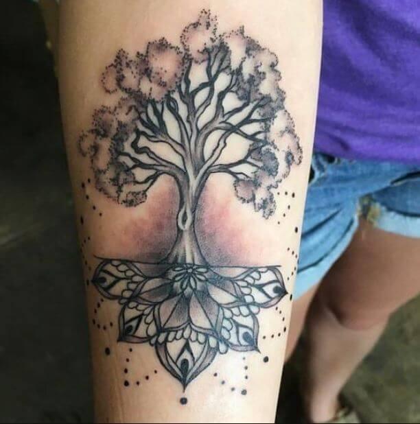 Mandala Tree Tattoo