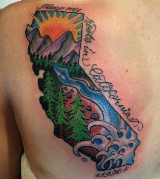 Map California Tattoos