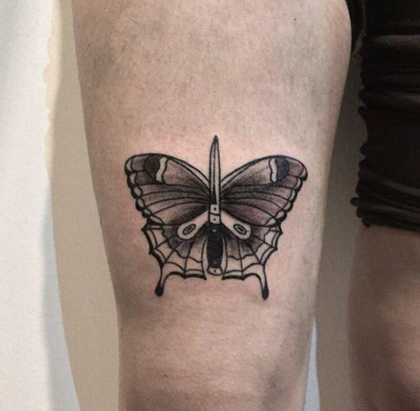 Men Butterfly Tattoos
