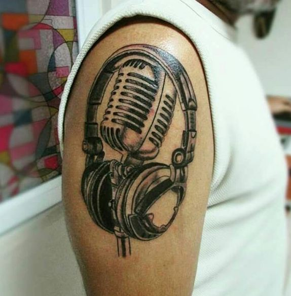 Microphone Quarter Sleeve Tattoos
