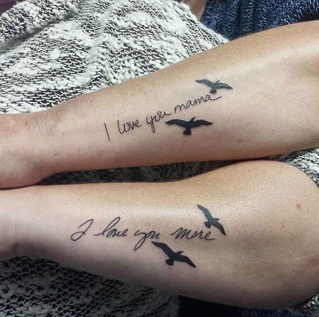 Mom And Daughter Matching Tattoos