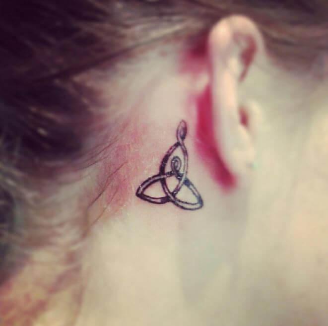 Mom Tattoos Behind The Ear