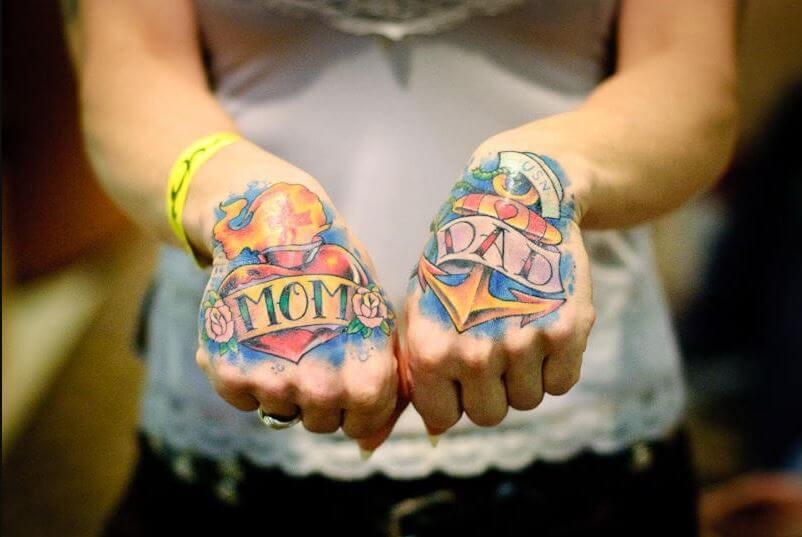 Mom Tattoos On Hand