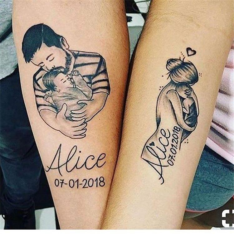 Mother And Children Tattoo Design (2)