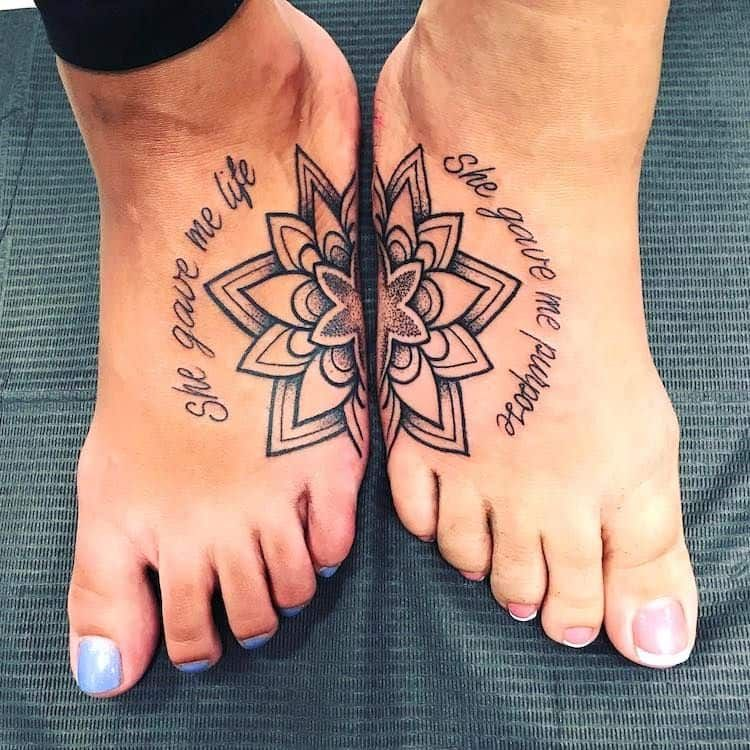 Mother And Children Tattoo Design (3)