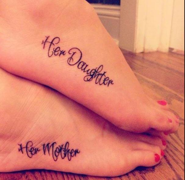 Mother And Daughter Tattoos Ideas