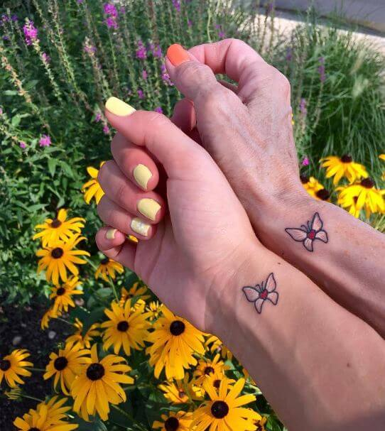 Mother Daughter Butterfly Tattoos