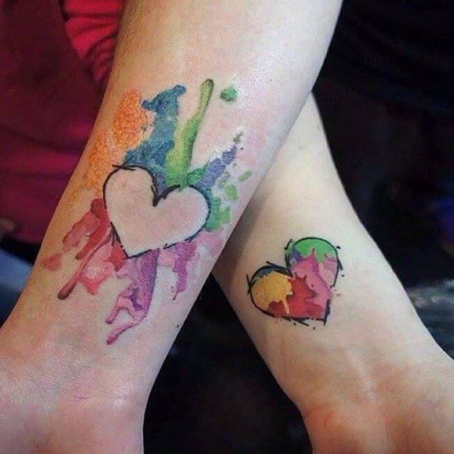Mother Daughter Heart Tattoo