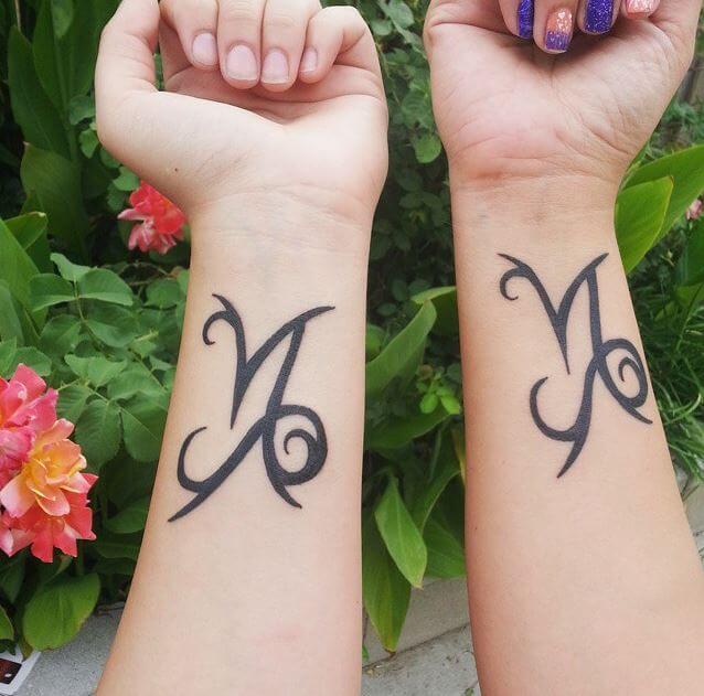 Mother Daughter Symbols Tattoo