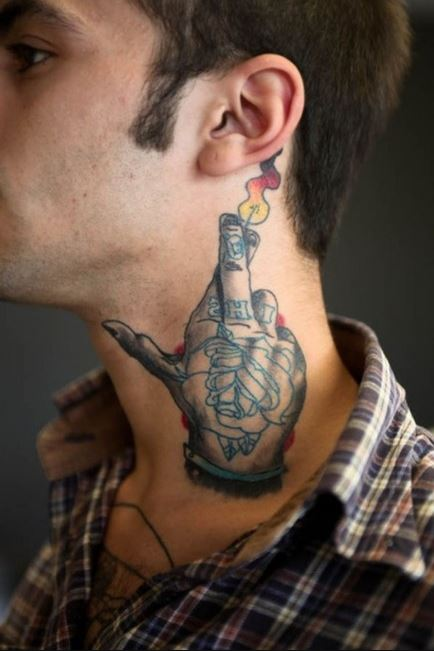 Neck Tattoo Cover Up Ideas