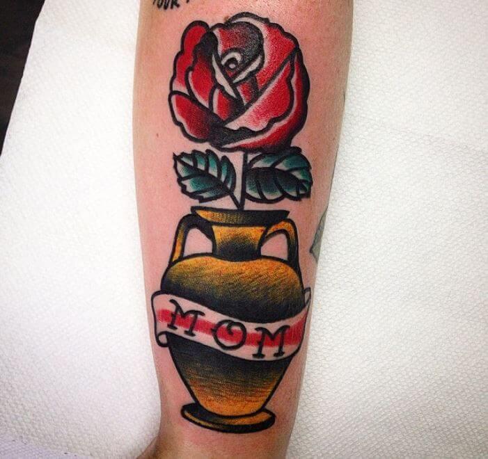 Old School Mom Tattoo