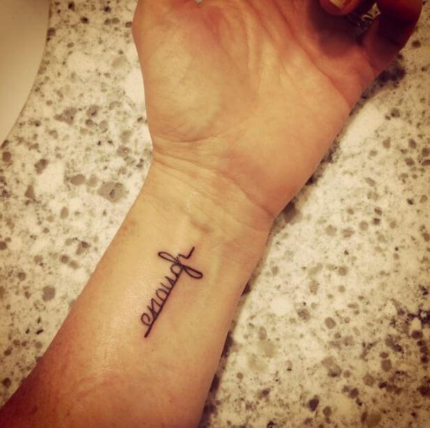 One Word Tattoos For Girls Wrist