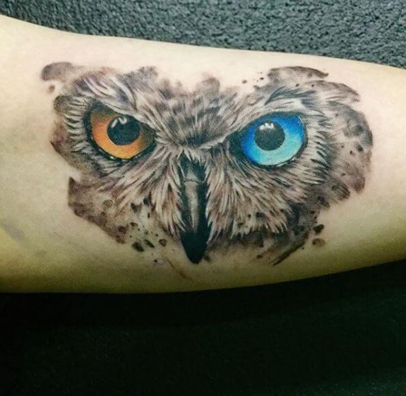 Owl Eye Tattoos On Forearm