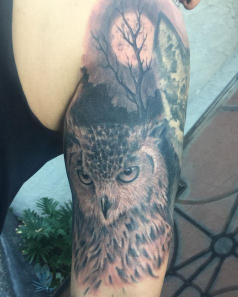 Owl Sleeve Tattoos