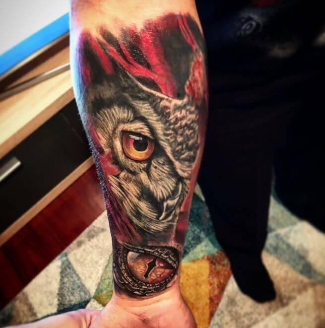 Owl Tattoo Forearm