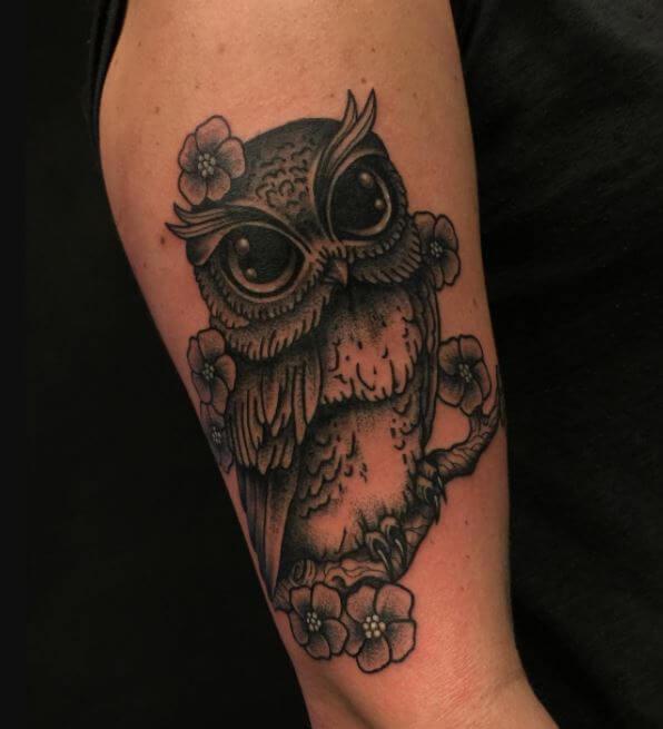 Owl Tattoos On Arms