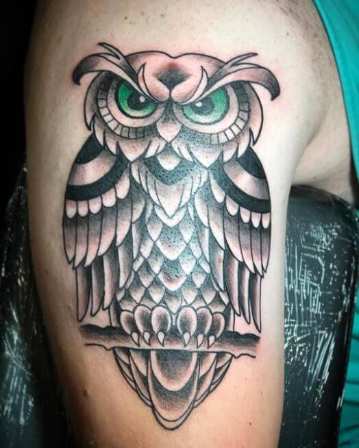 Owl Tattoos On Arms For Girls