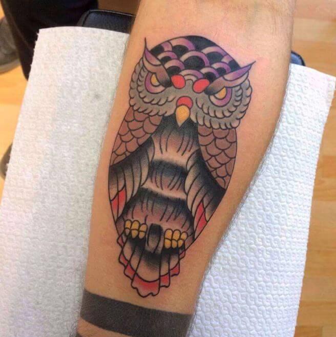 Owl Tattoos On Legs