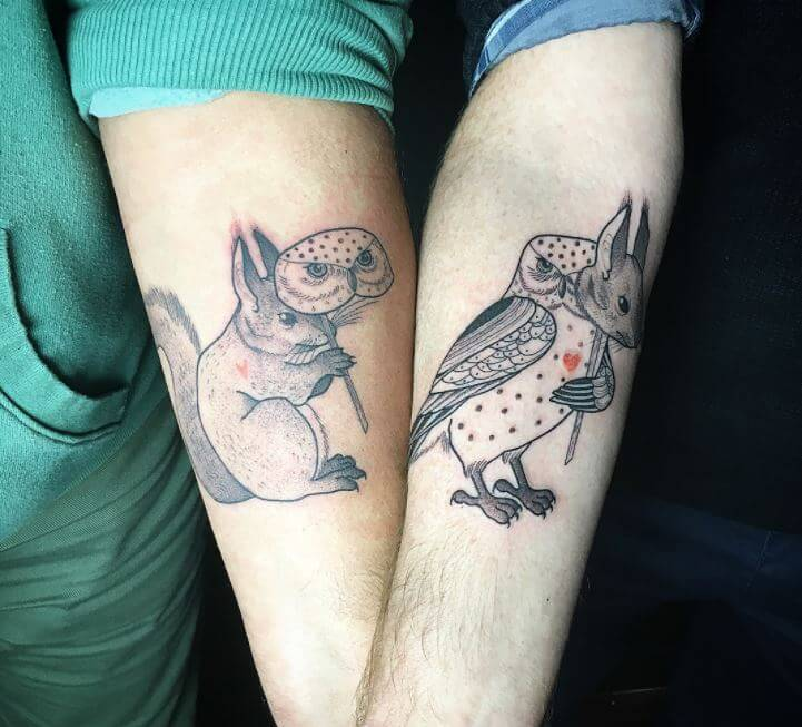 Owl Wrist Tattoos