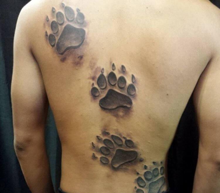 Paw Print Tattoos Bear