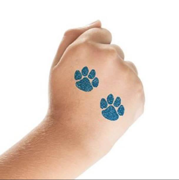 Paw Print Temporary Tattoos