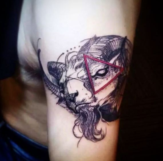 Pencil Sketch Style Tattoo