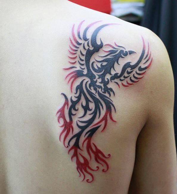 Phoenix Tattoos Design For Boys