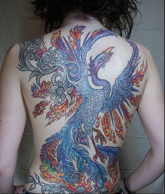 Phoenix Temporary Tattoos