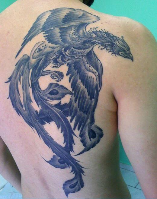 Phoenix Thigh Tattoos