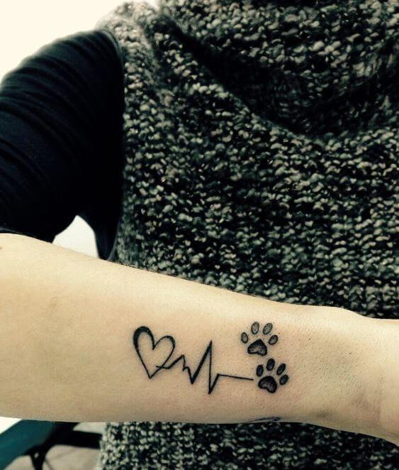 Puppy Paw Print Tattoo