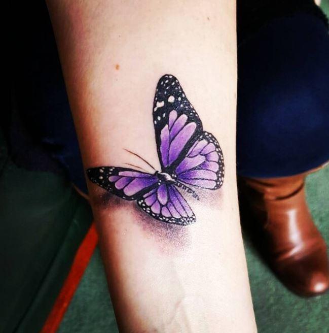 Purple Butterfly Tattoos