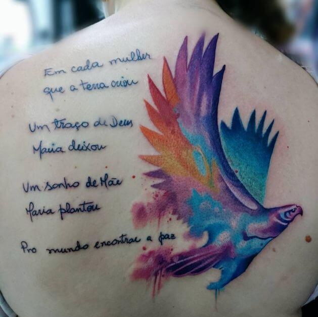 Quote Watercolor Tattoos