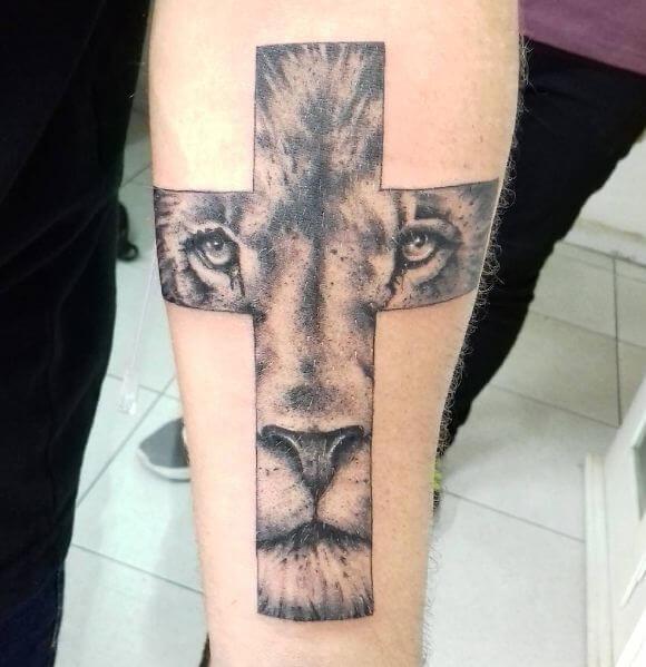 Religious Lion Tattoos