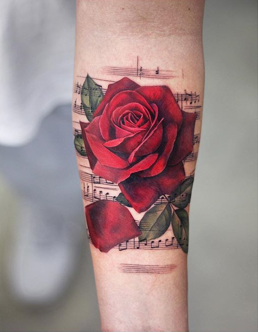 Rose And Thorns Tattoos (1)