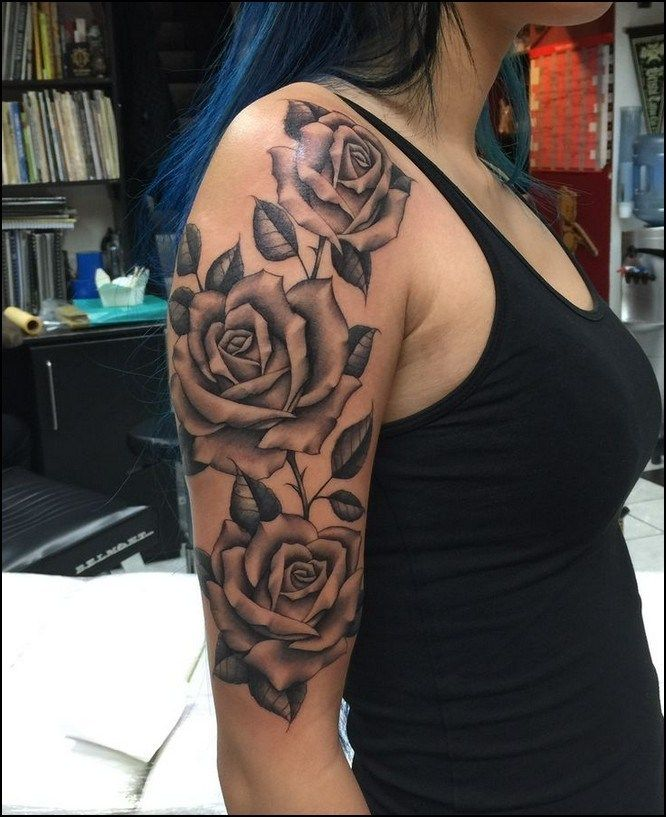 Rose And Thorns Tattoos (10)