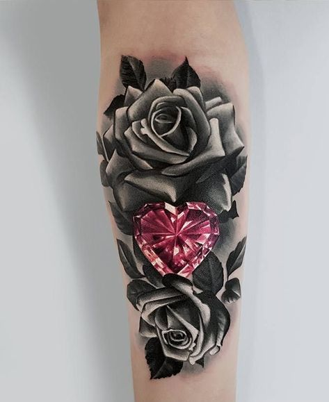 Rose And Thorns Tattoos (3)