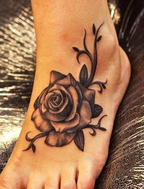Rose And Vines Tattoos