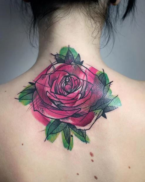 Rose Flowers Tattoos