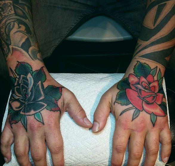 Rose Hand Tattoos